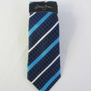 Sean John Mens Dash Stripe Silk Necktie